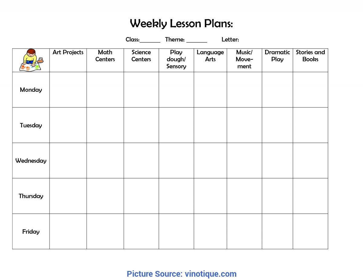 Great Preschool Lesson Plan Format Best Photos Of Printable