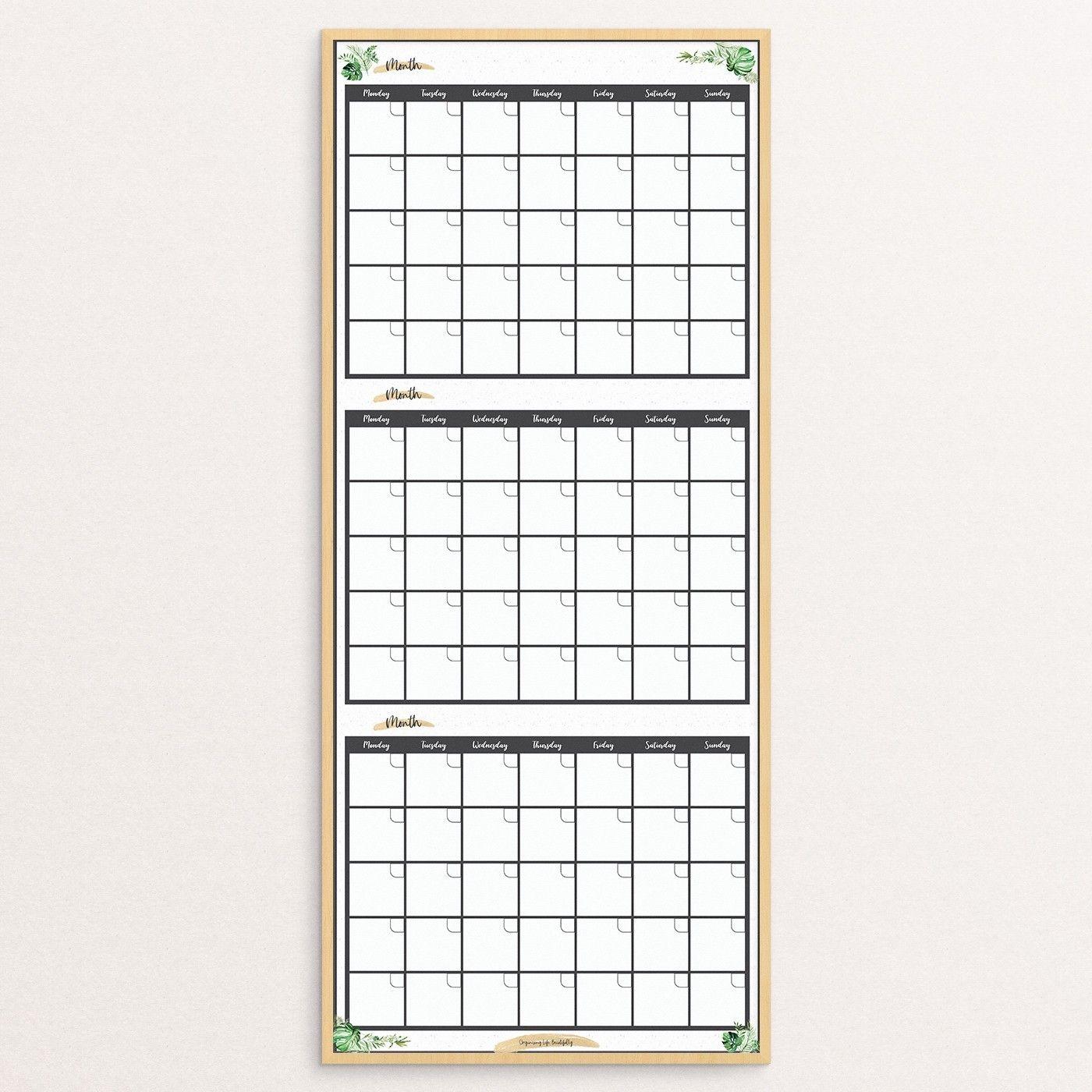 Greenery_Wood Frame_3Mth Planner | Atp Creative Design