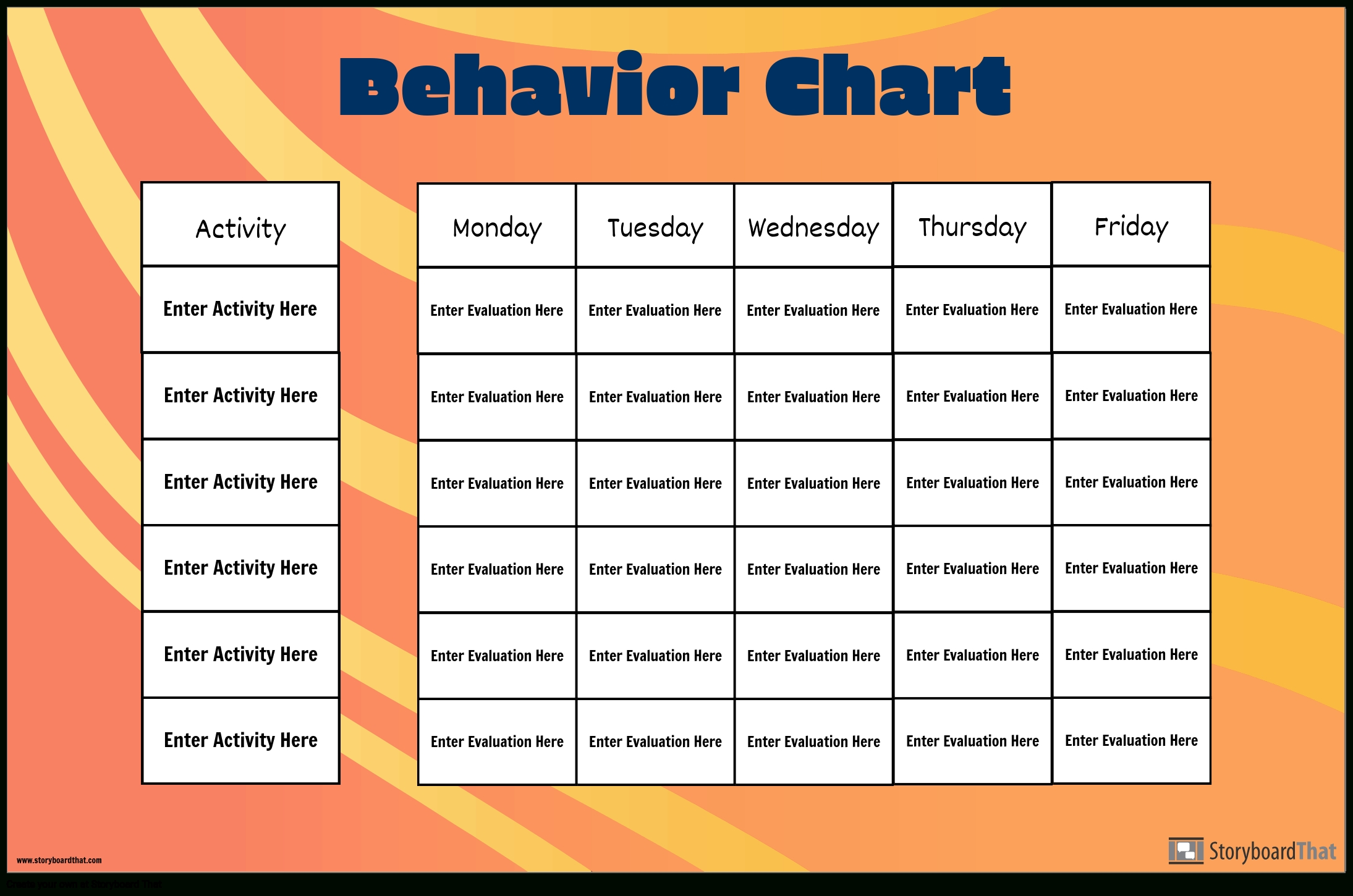 Grid Behavior Chart Storyboard By Poster-Templates
