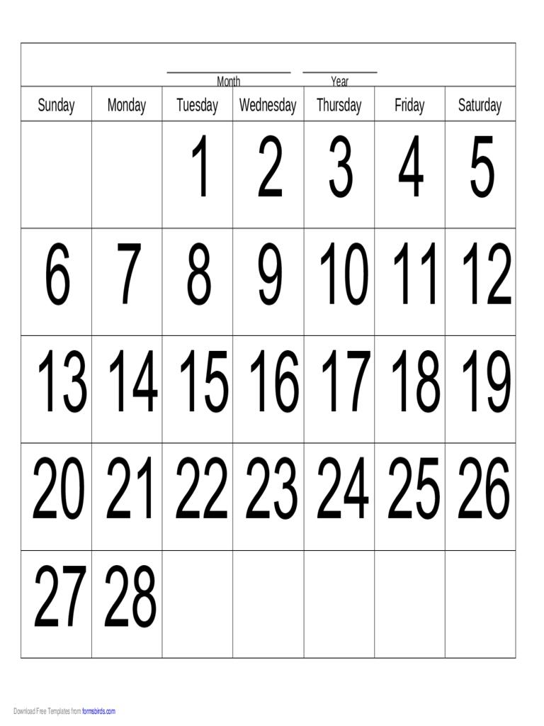 Handwriting Calendar - 28 Day - Tuesday - Edit, Fill, Sign