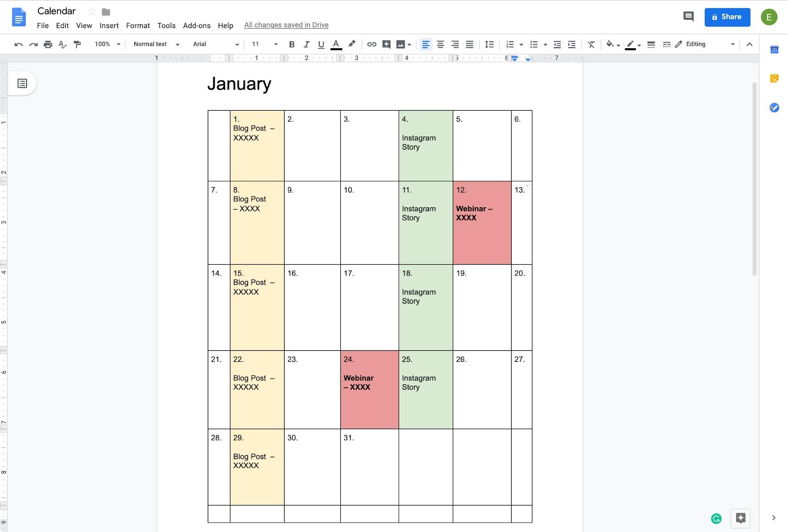 How To Create A Calendar In Google Docs   Copper