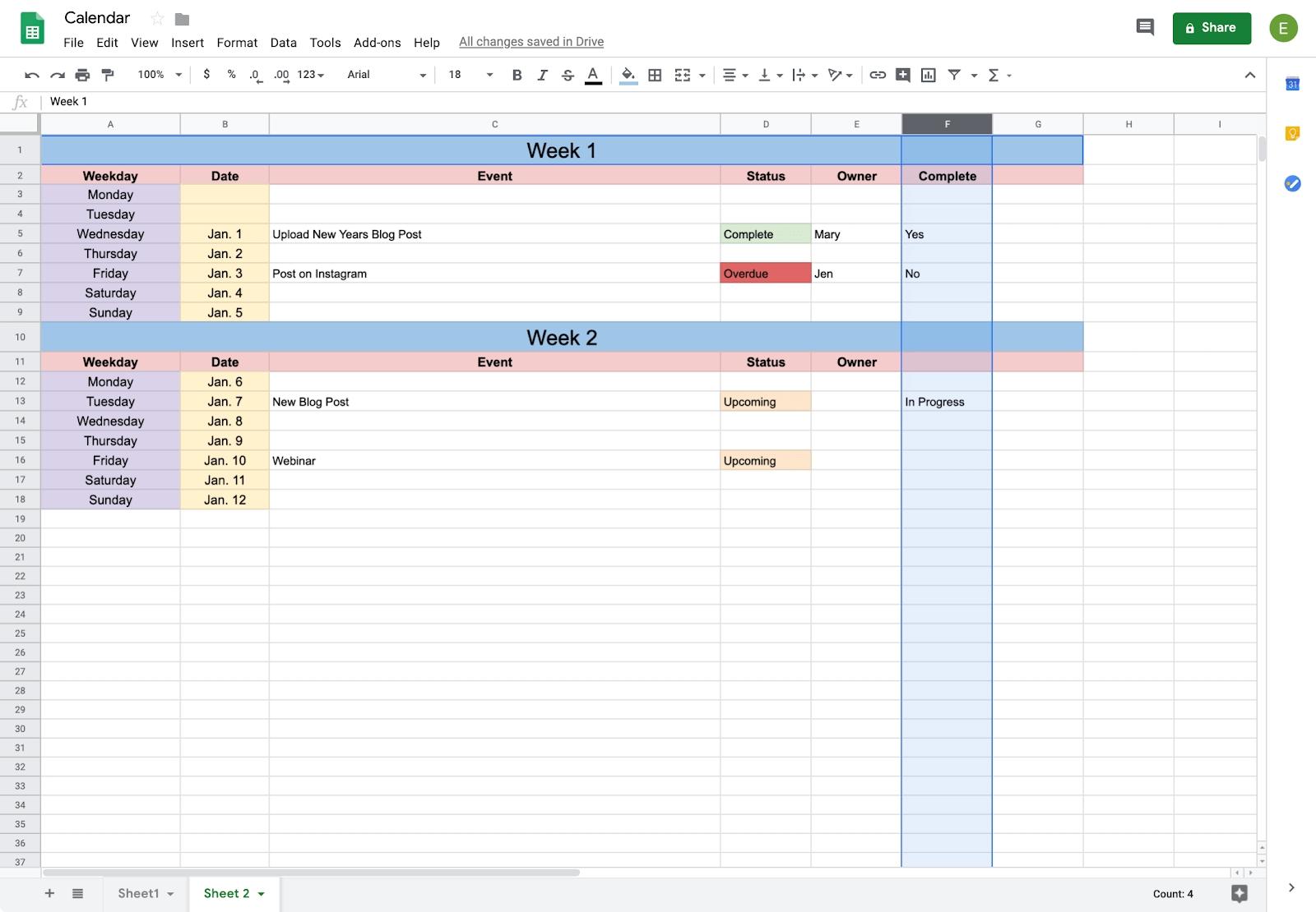 How To Create A Calendar In Google Docs | Copper