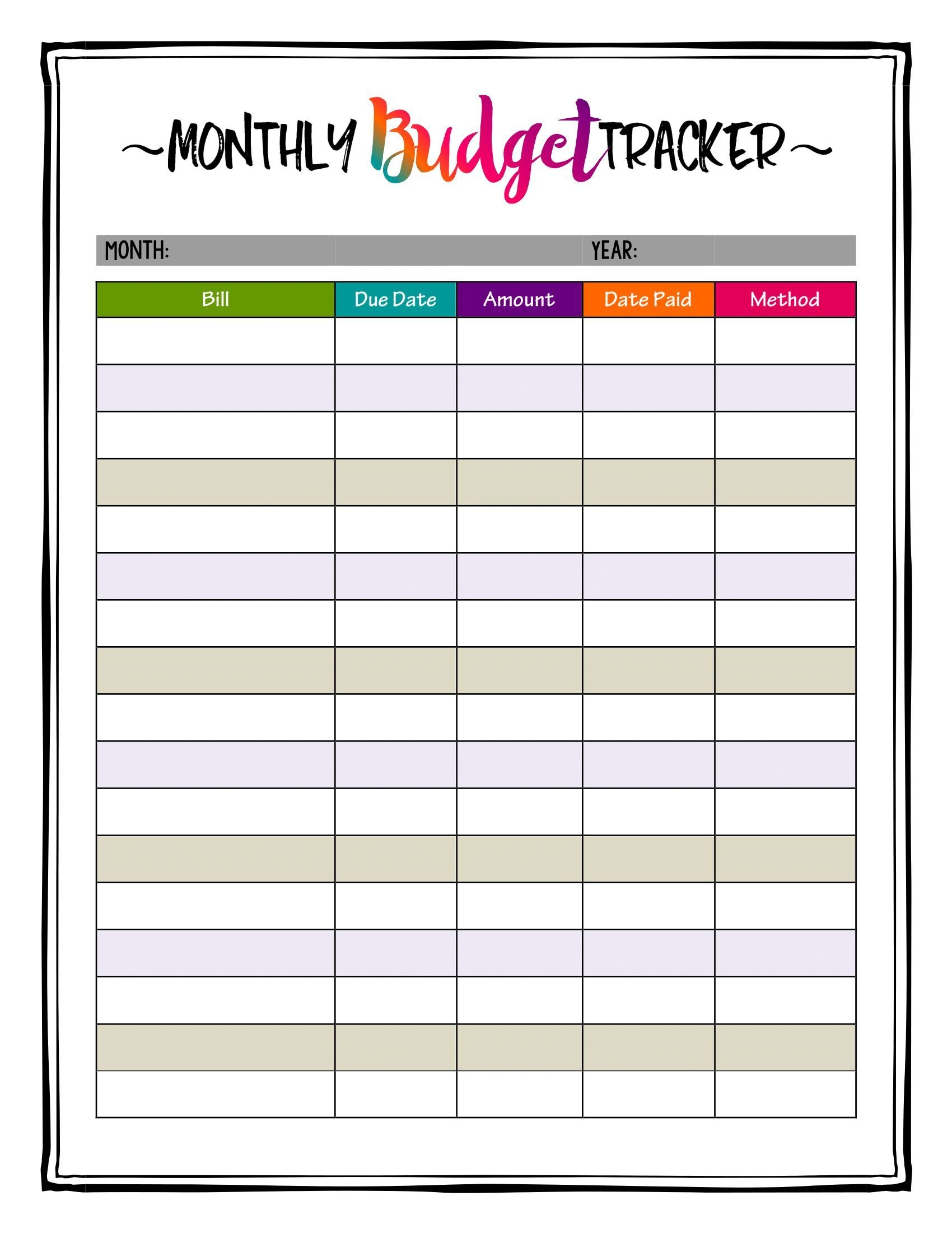 How To Organize Bills! Super Bright Budget Tracker Makes