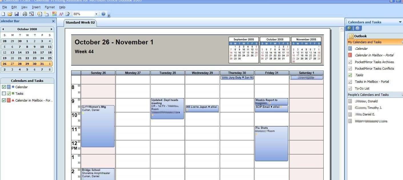 How To Print Multiple Outlook Calendars And Tasks In Overlay