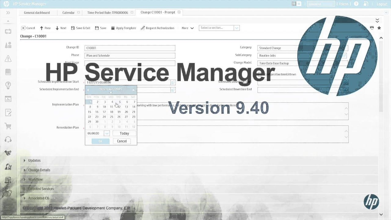 Hp Service Manager 9.40 - Change And Release Management