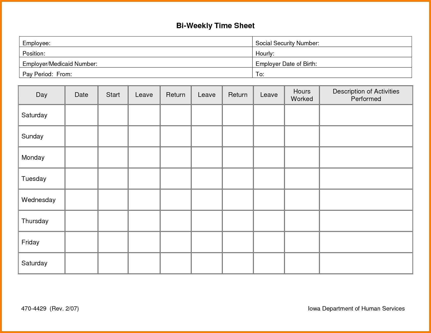 Image Result For Free Printable Timesheets (With Images
