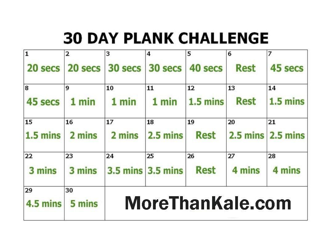 Innovative 30 Day Plank Challenge Printable Pdf Calendar