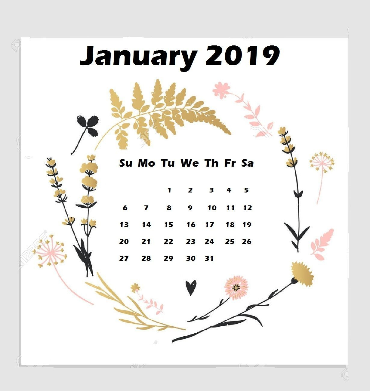 January 2019 Iphone Calendar Wallpaper | Calendar Wallpaper