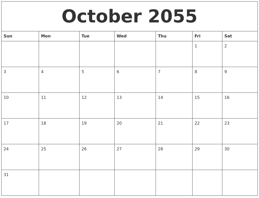 January 2056 Birthday Calendar Template