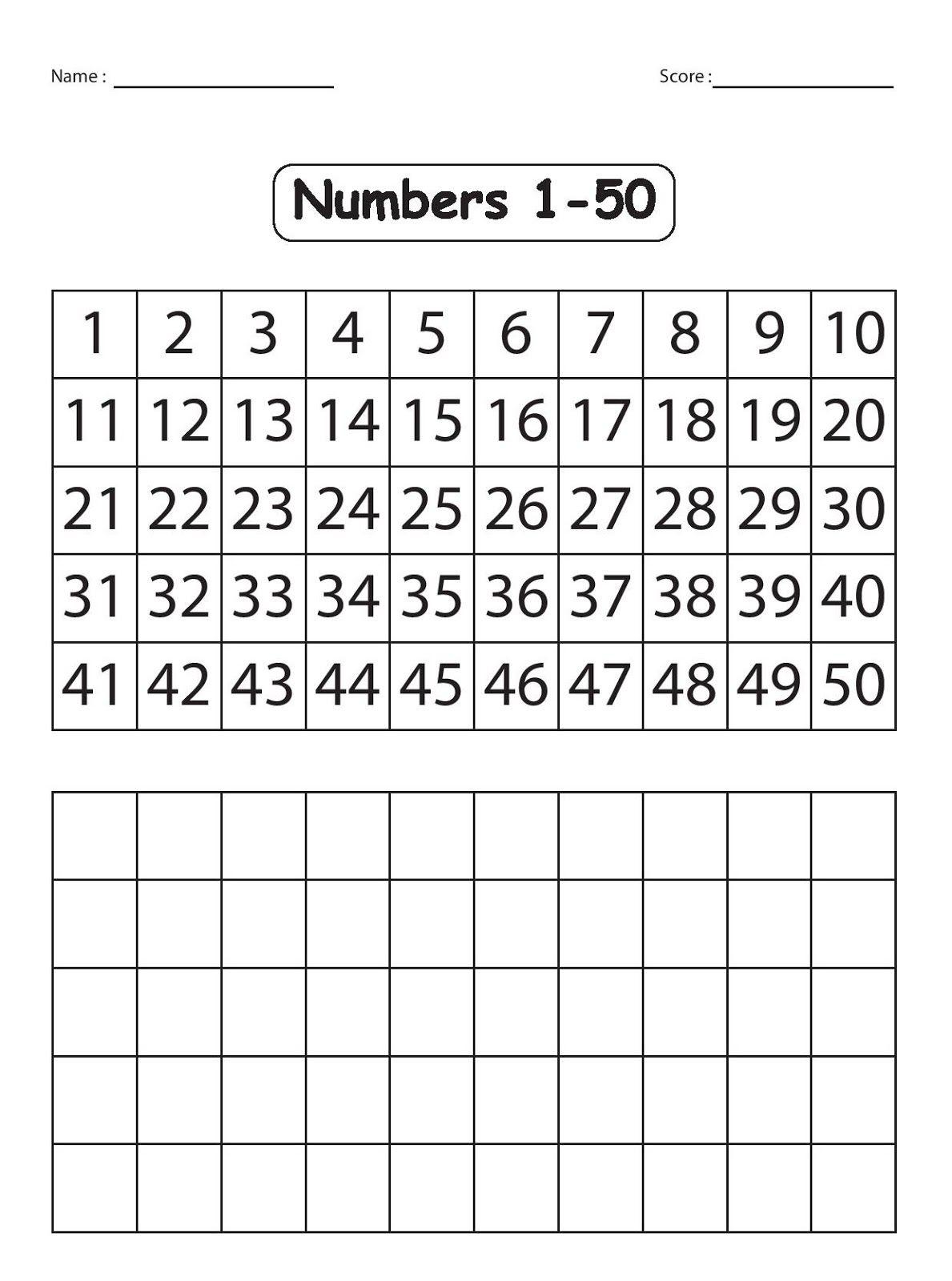 Kindergarten Worksheets: Maths Worksheets - Explore The