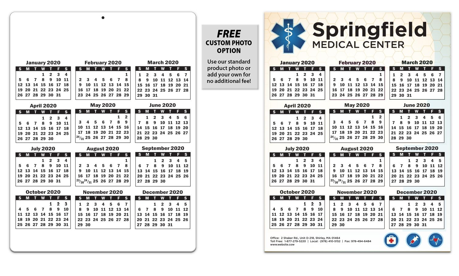 Laminated Card Calendar, 8.5 X 11 | Valuecalendars