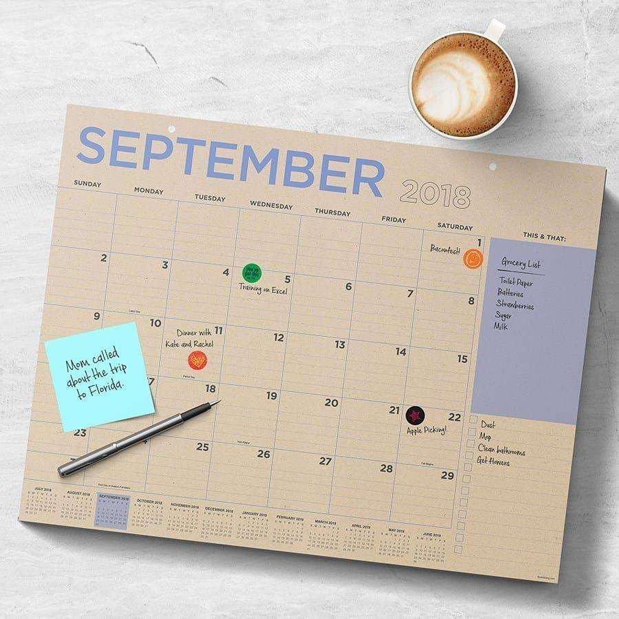 Large Desk Calendars | 4 Designs | Desk Calendar Pad, Large