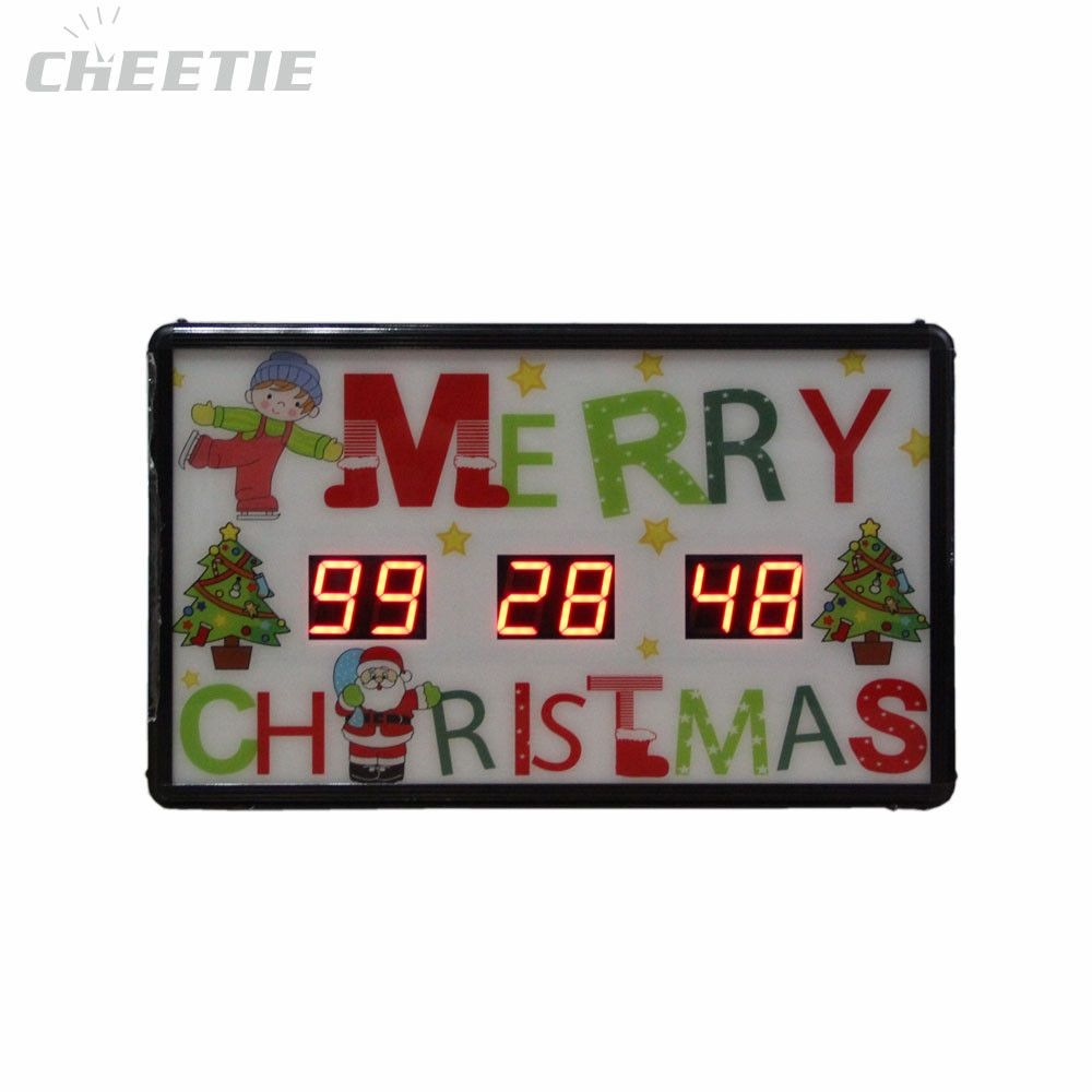 Led Countdown Timer To Christmas Table Clock 2-Channel