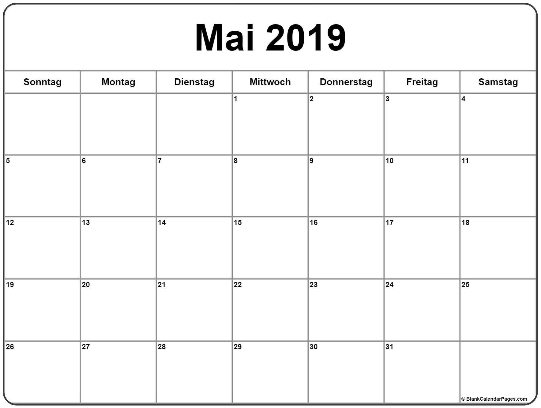 Mai 2019 Kalender Zum Ausdrucken | February Calendar