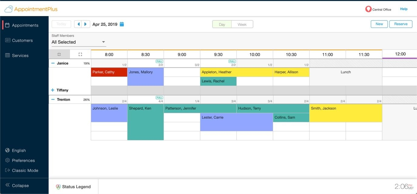Managing Multiple Appointments Per Time Slot And The