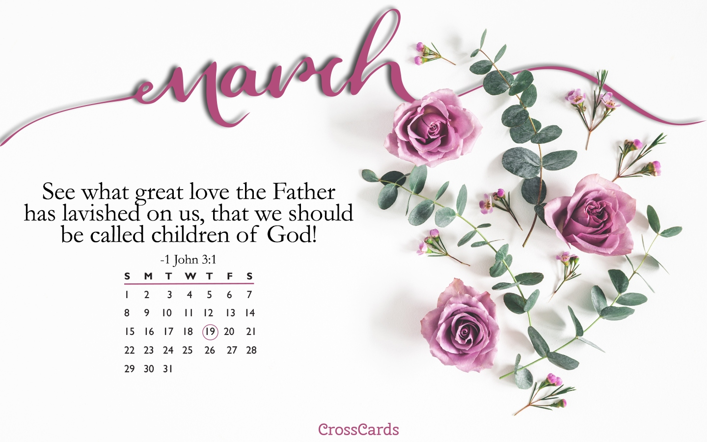 March 2020 - Children Of God Desktop Calendar- Free March