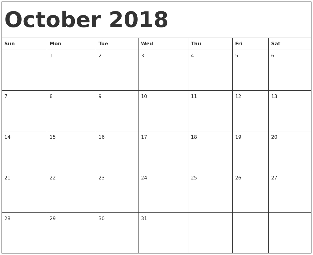May 2018 Calendar Printable Template Uk — Free Editable Pdf