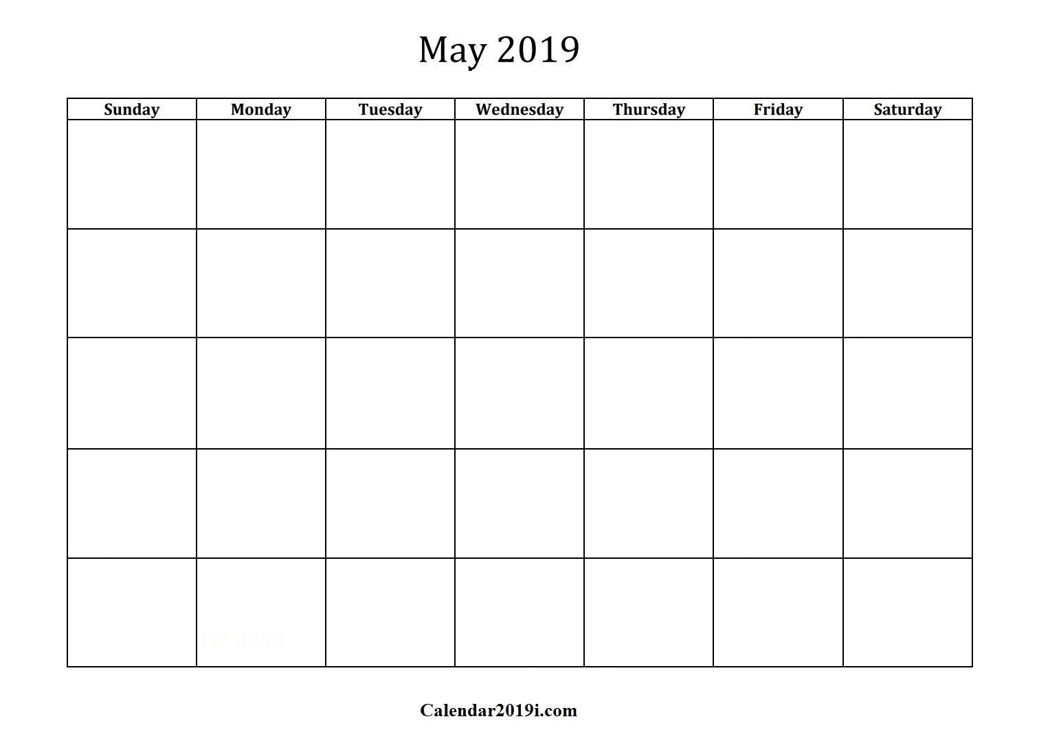 May 2019 Calendar (Con Imágenes) | Imprimir Sobres