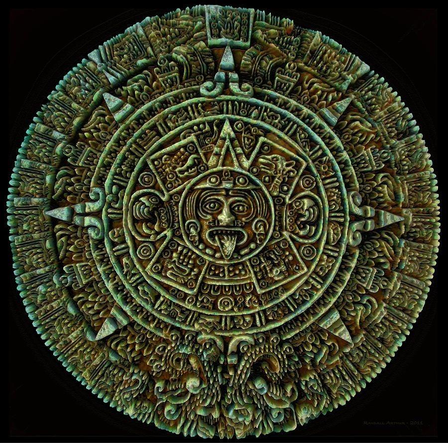 Mayan Art | Mayan Calendar Digital Art - Mayan Calendar Fine