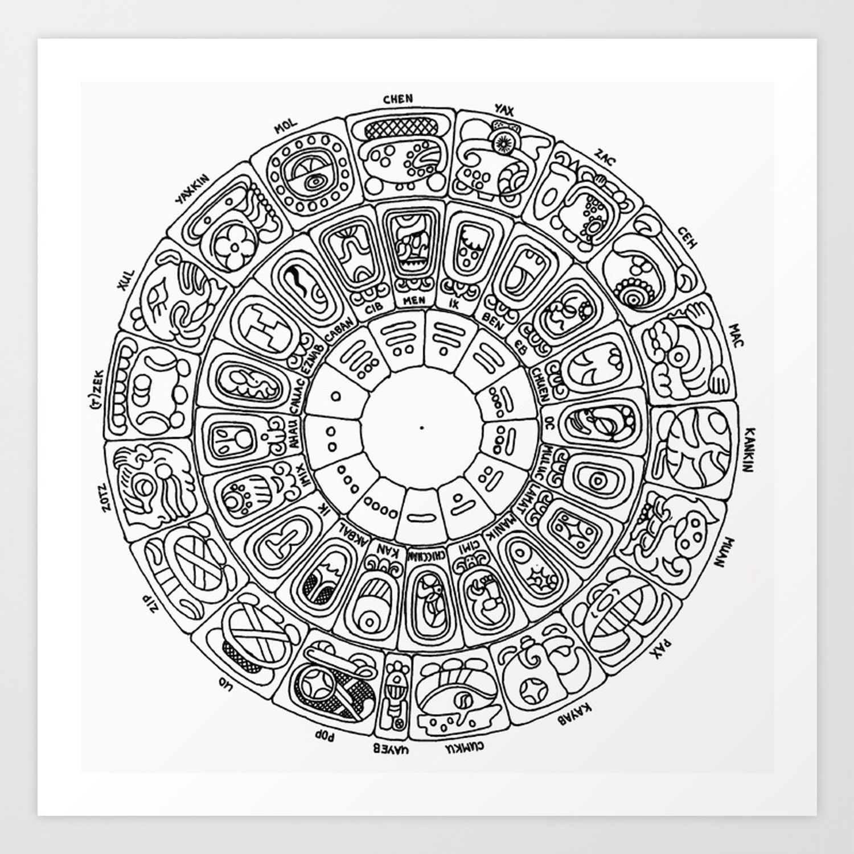 Mayan Calendar Art Print By Mantisgallery