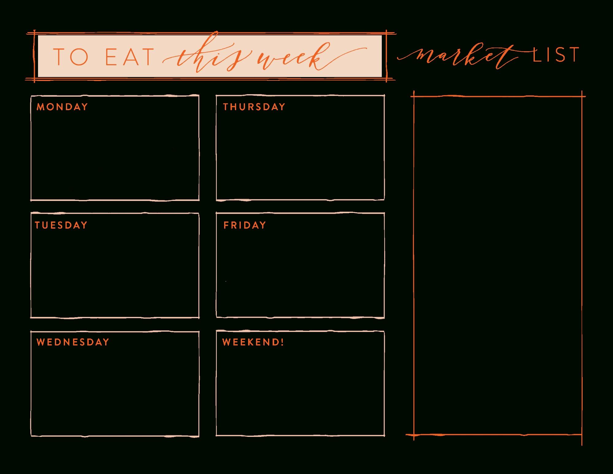 Meal Planning | Meal Planning Printable, Meal Planning
