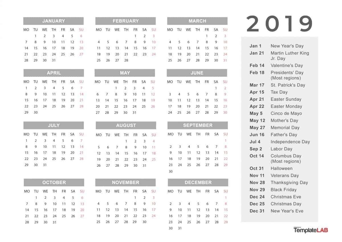 Month At A Glance Blank Calendar In 2020 | Calendar Template