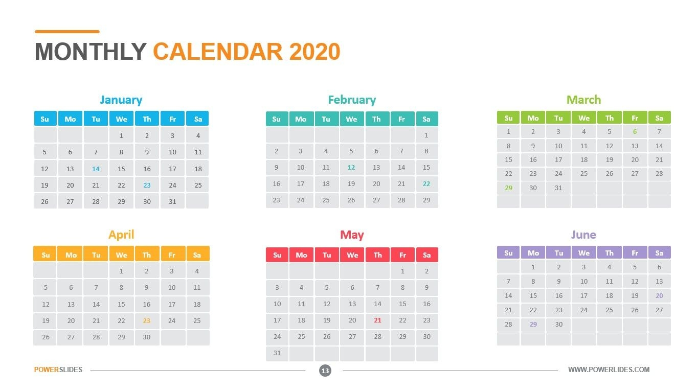 Monthly Calendar 2020 | Download Now | Powerslides™