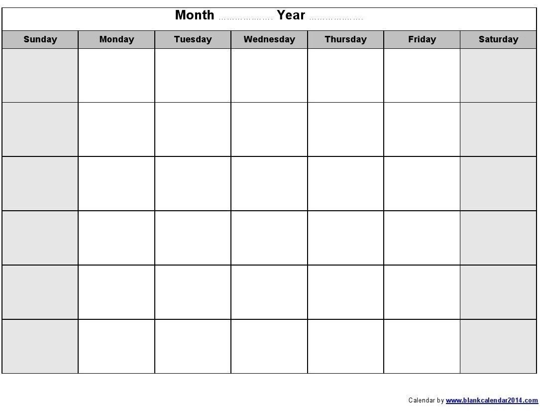 Monthly Calendar Template Printable (Dengan Gambar)