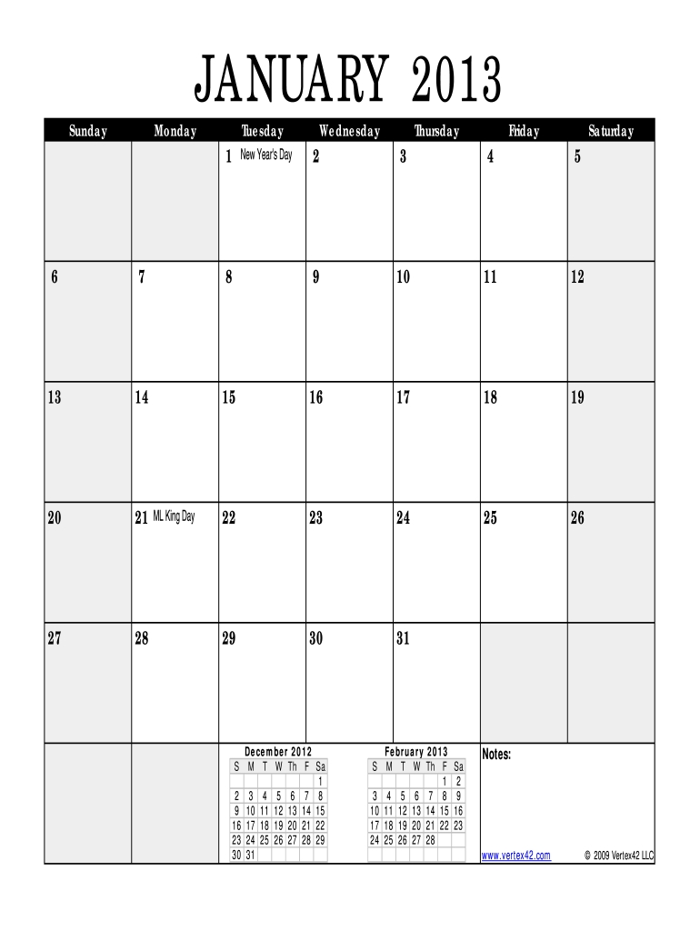 Monthly Calendars That Can Be Edited - Fill Online