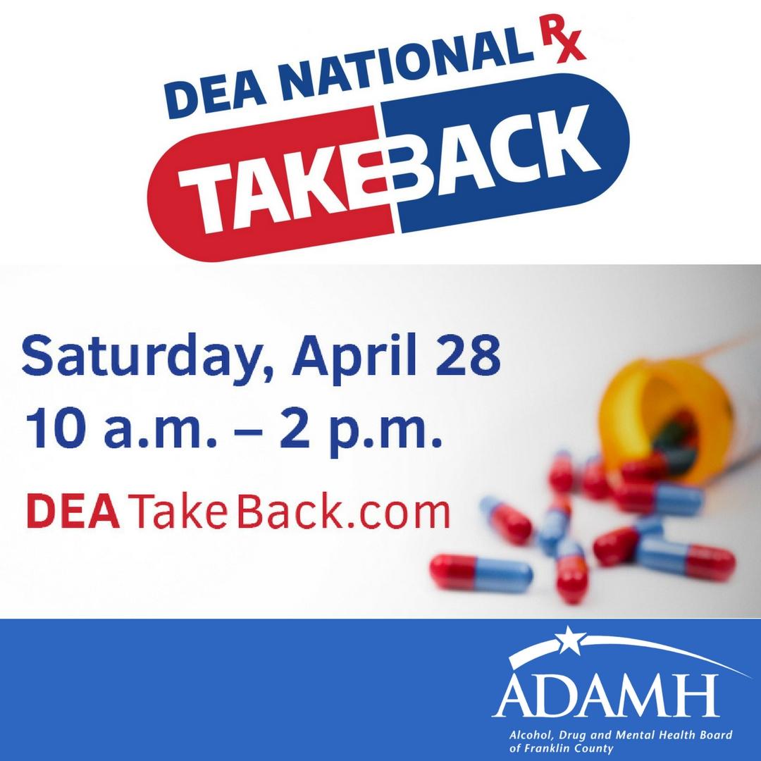 National Prescription Drug Take Back Day - Adamh Franklin