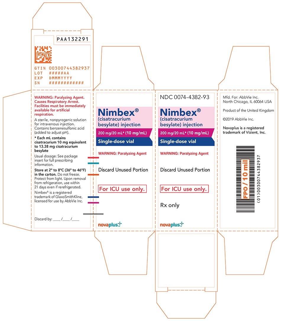 Ndc 0074-4382 Nimbex Cisatracurium Besylate