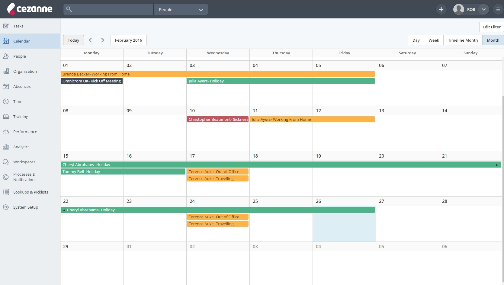 New Calendar Features: Where Is Everybody? - Cezanne Hr