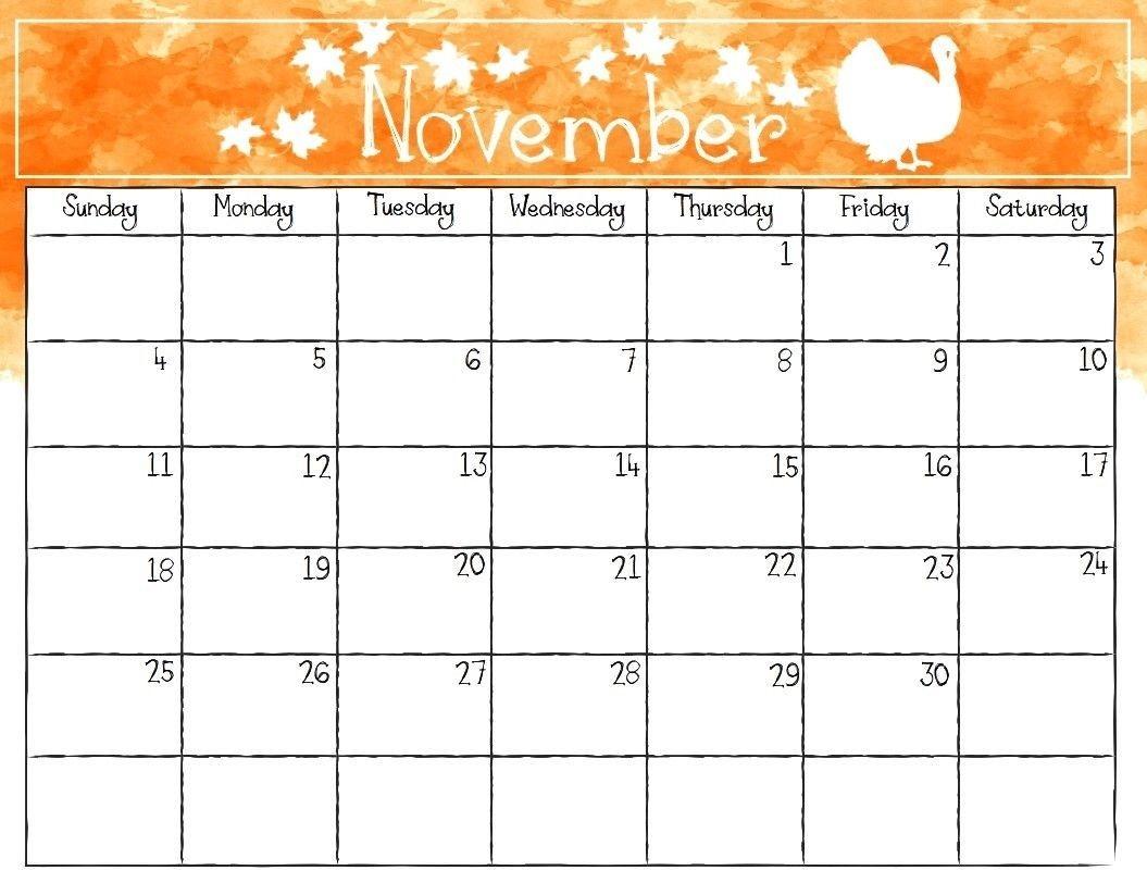 November 2018 Printable Calendar Templates | November 2018