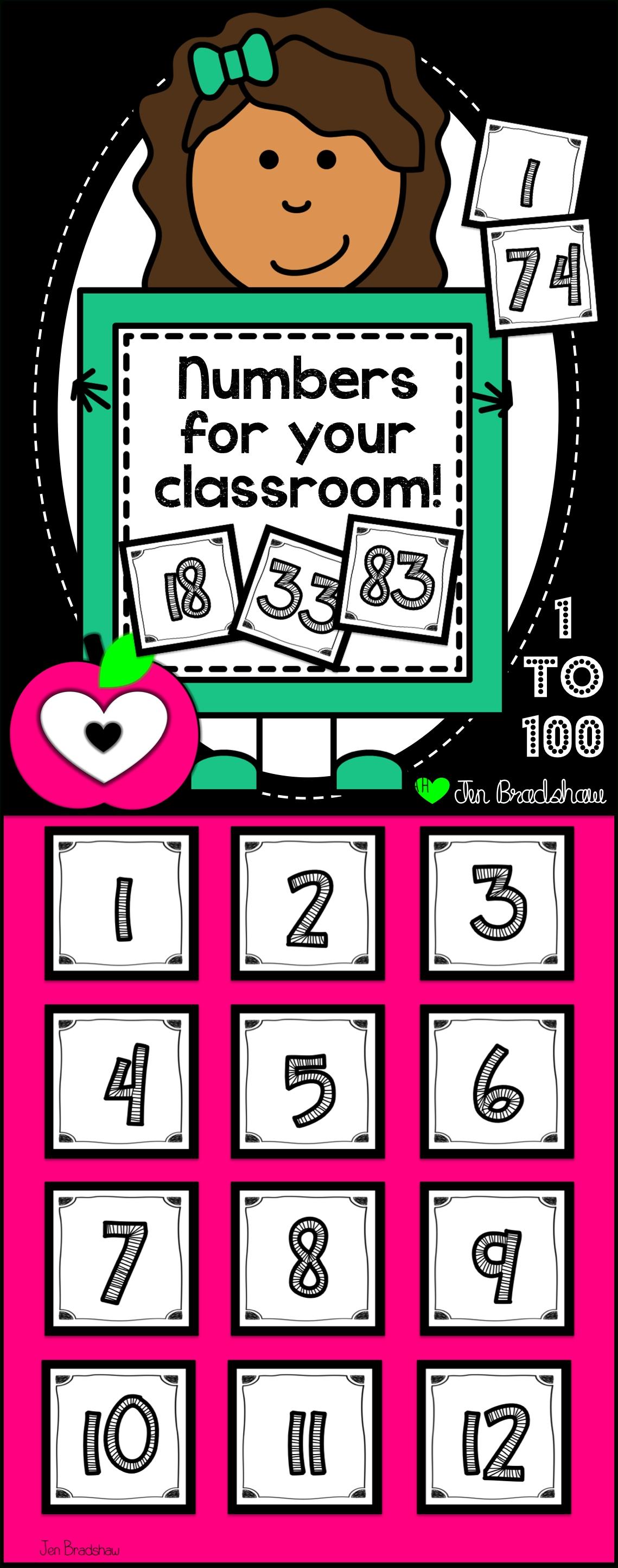 Number Cards: 1 - 100 | Calendar Math, Math Centers, Math