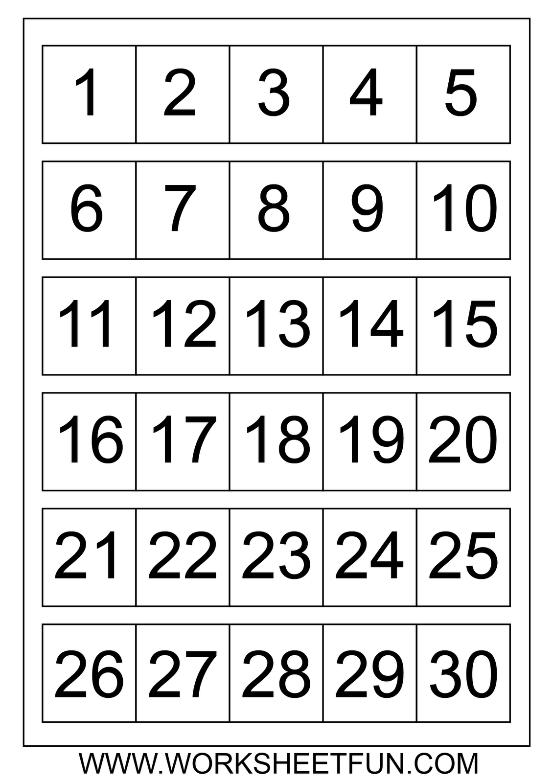 Number Chart 1 30 Number Charts 1 To 30 (Con Imágenes