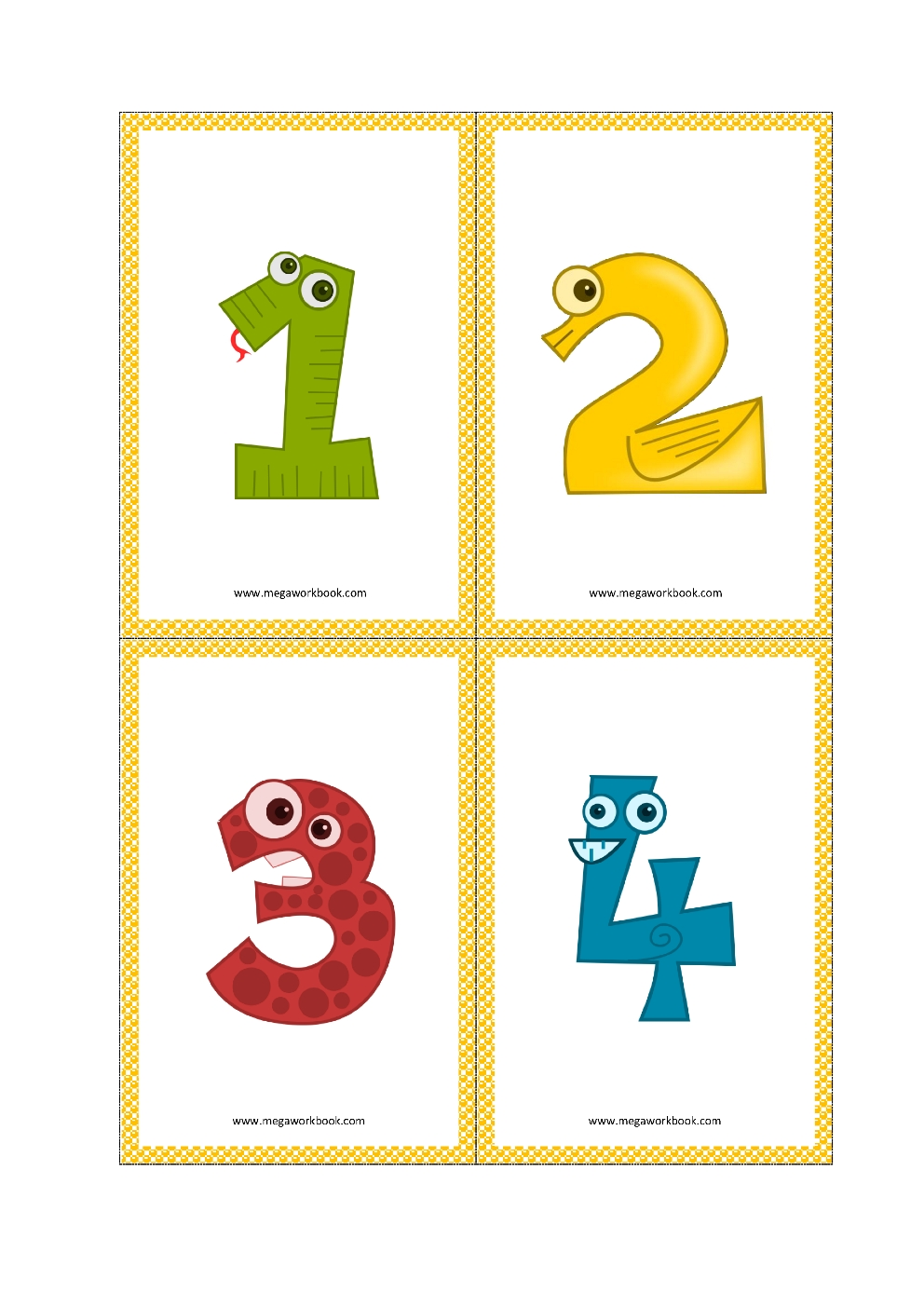 Number Flashcards - Number Flashcards Printable Free - (1 To