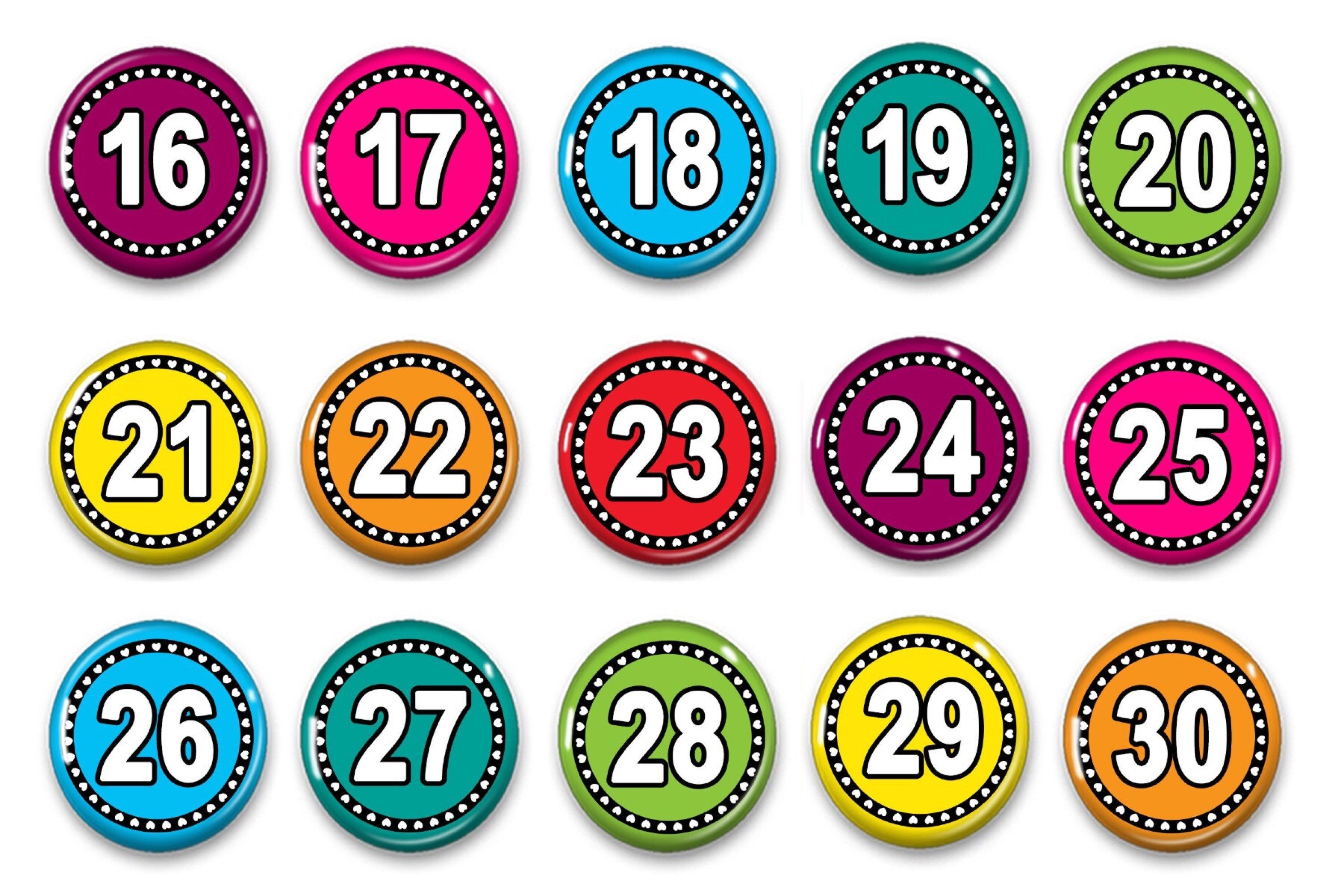 Number Magnets For Counting - Preschool Learning