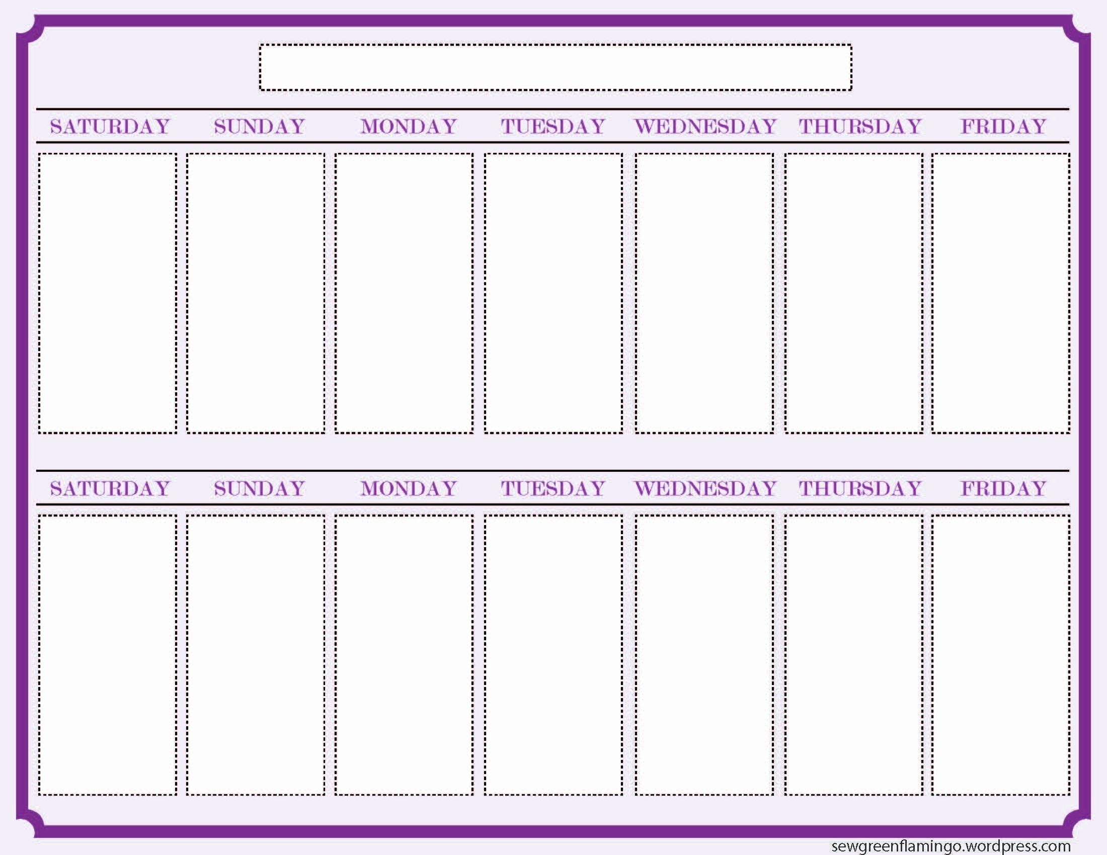 One Week Schedule Template Best Of Getting Organized 2 Week