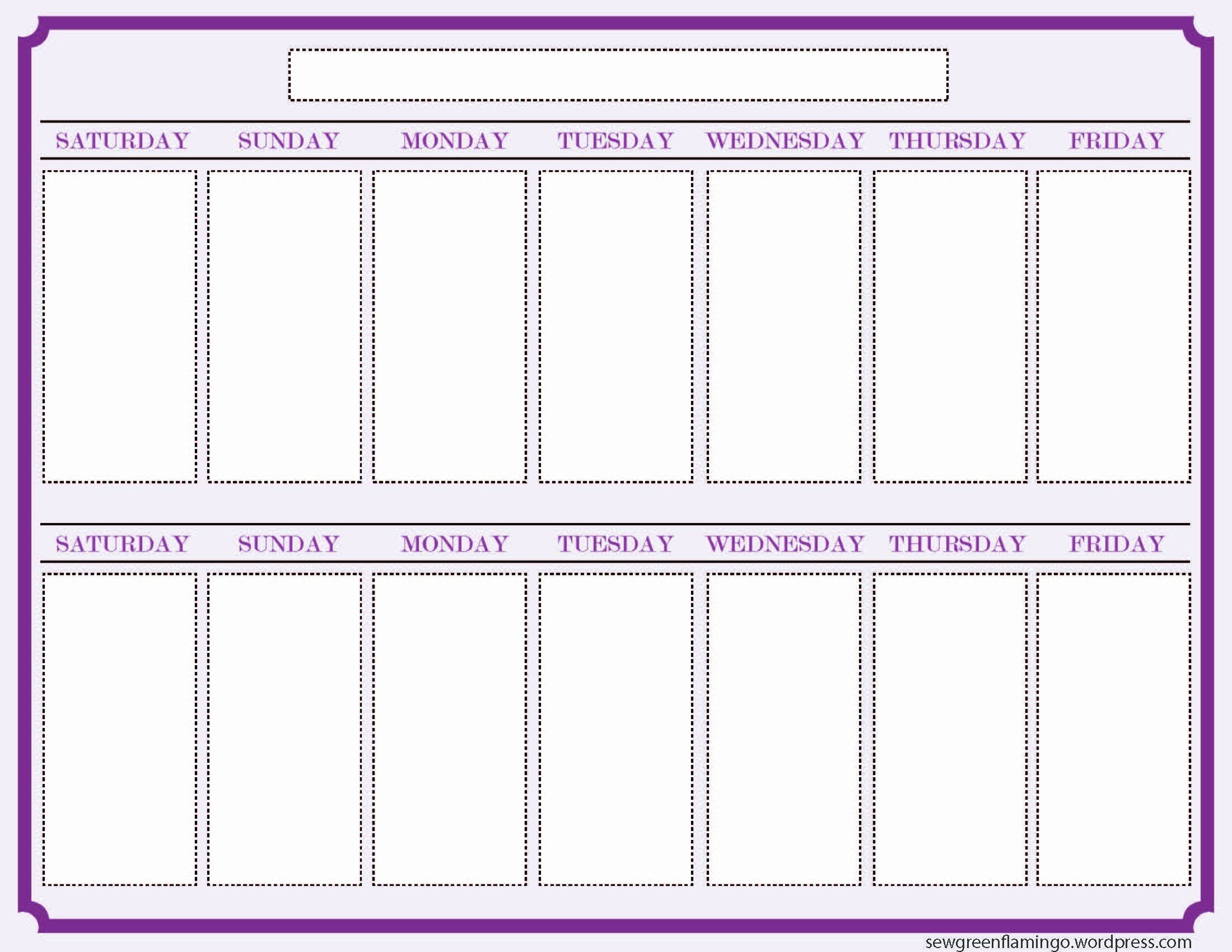 One Week Schedule Template Best Of Getting Organized 2 Week