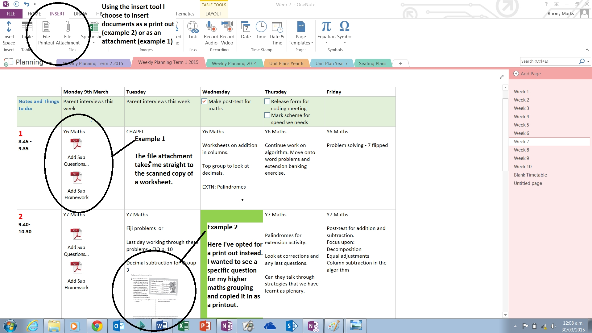 Onenote As A Planning Tool | Miss Marks Blogs