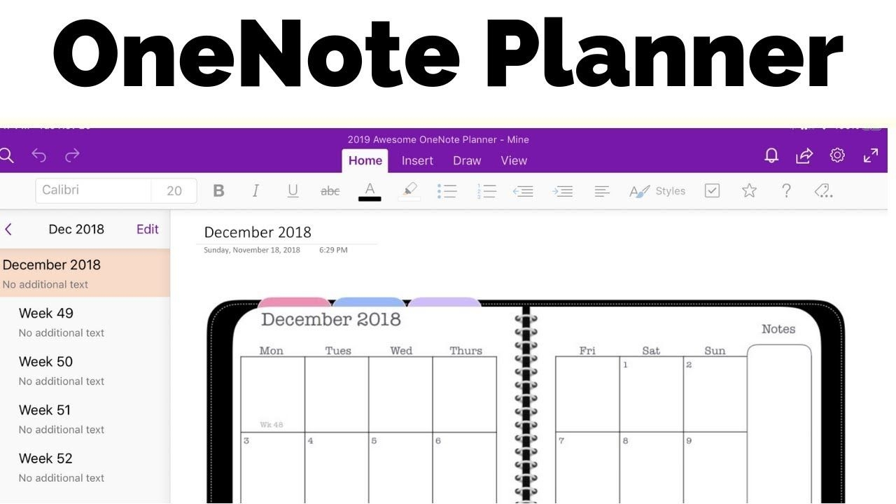 Onenote Planner - The Awesome Planner For Microsoft Onenote