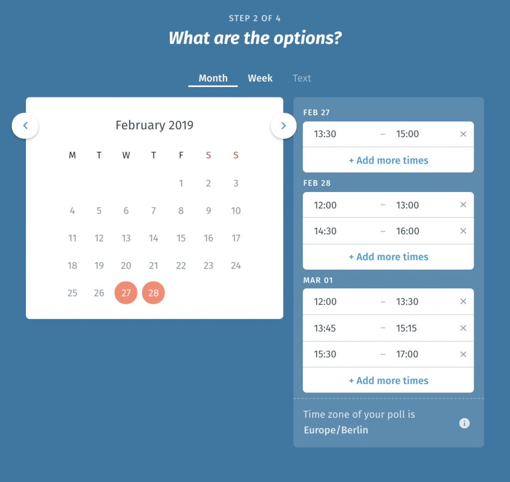 Online Scheduling And Meeting Planning - Easy Set Up | Doodle