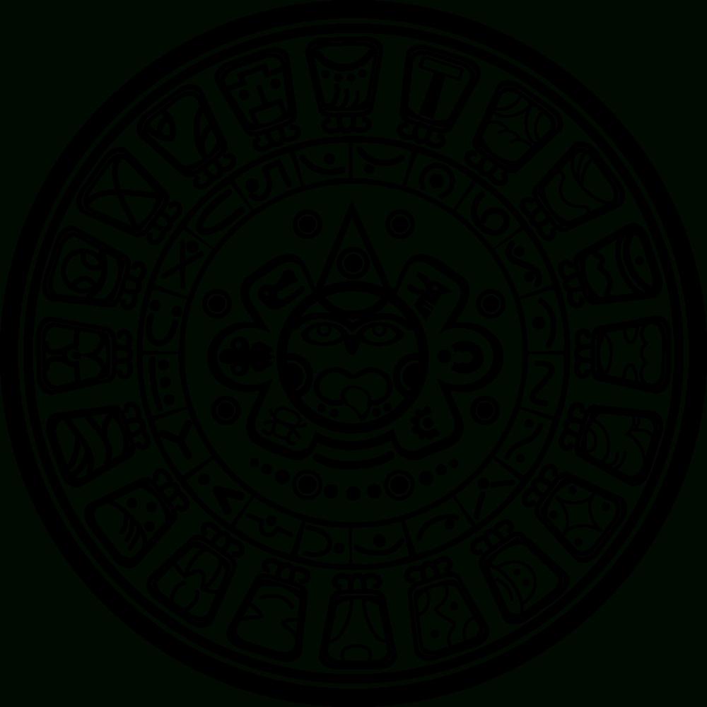 Onlinelabels Clip Art - Mayan Calendar