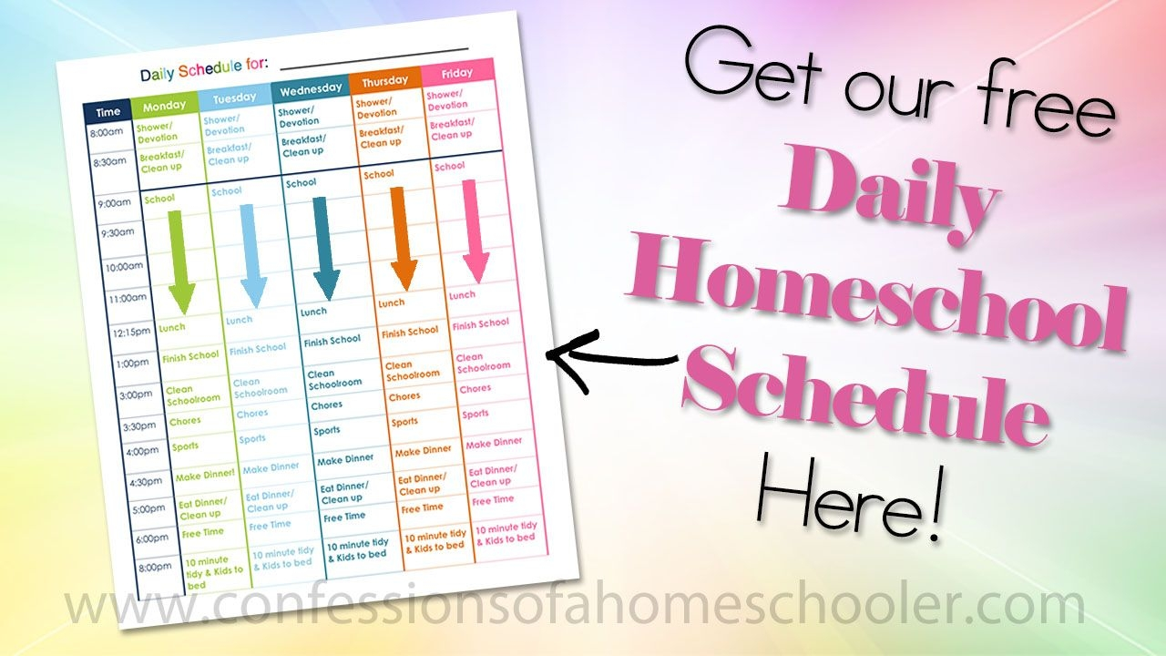 Our Daily Homeschool Schedule - Confessions Of A Homeschooler