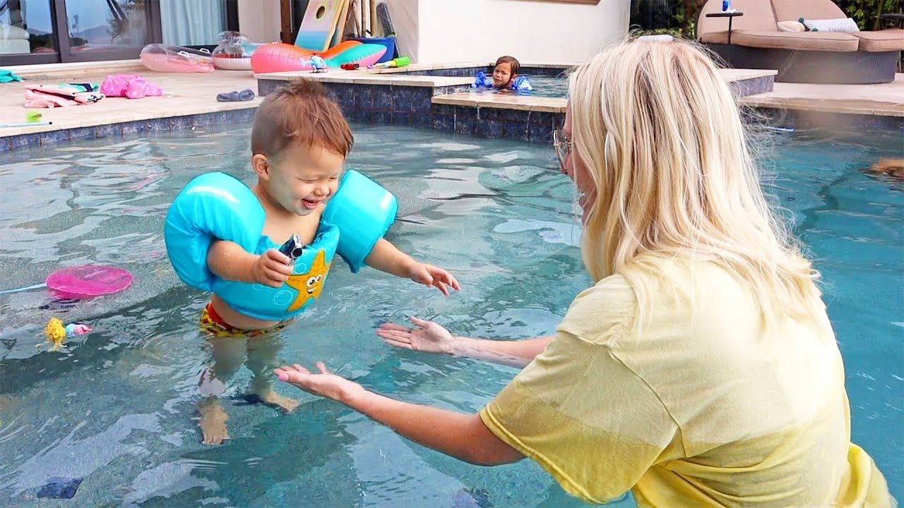 Our Youngest Baby Is Finally Swimming In The Pool!