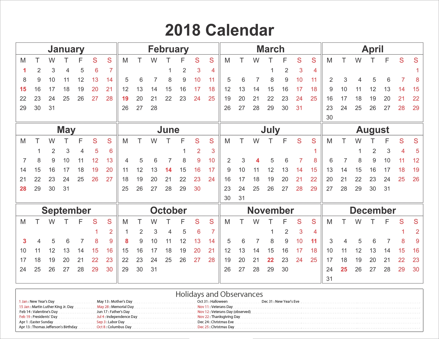 Paras | 2018 Calendar Printable For Free Download India Usa