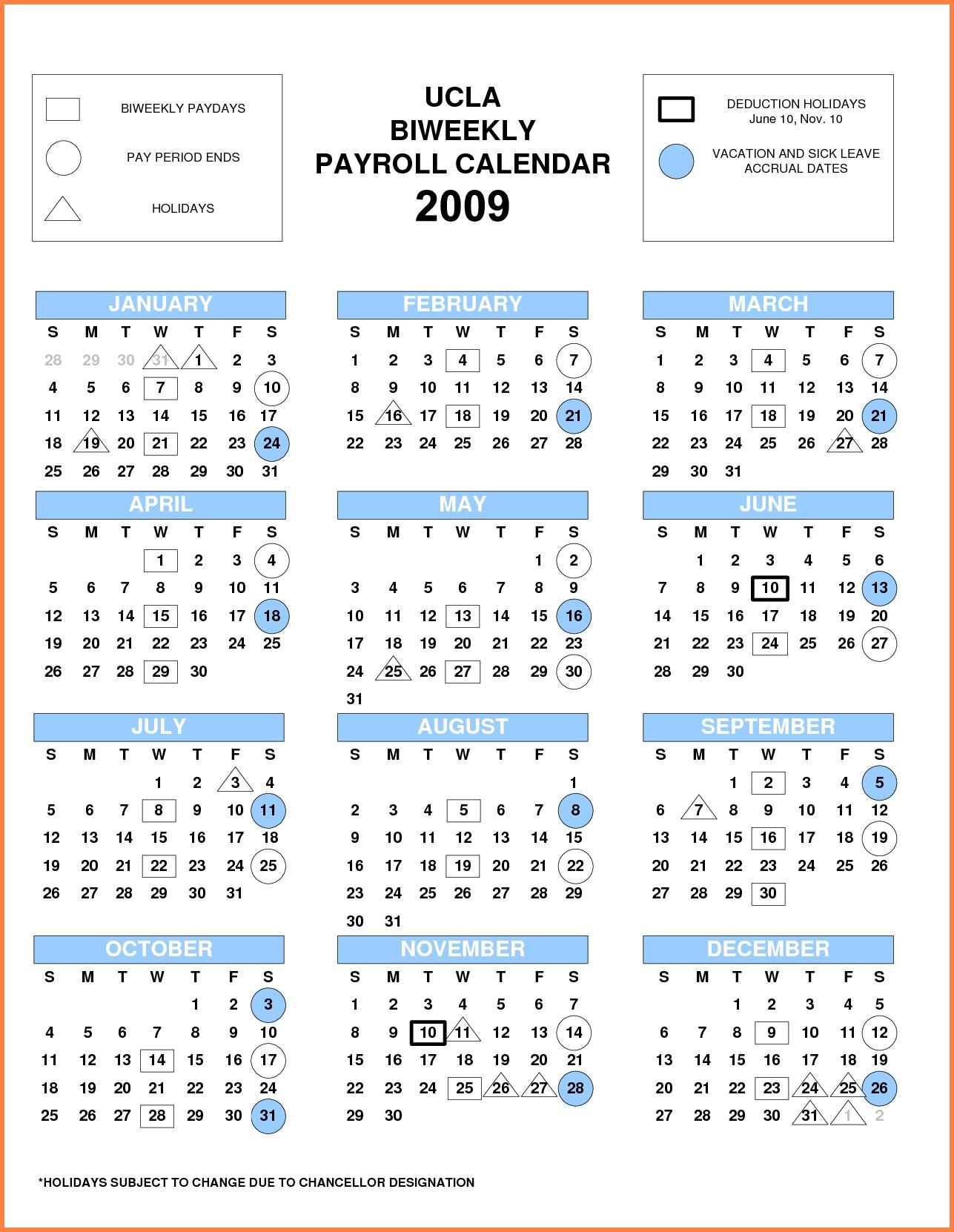 Payroll Calendar 2018 Every Two Weeks | Payroll Calendars 2020