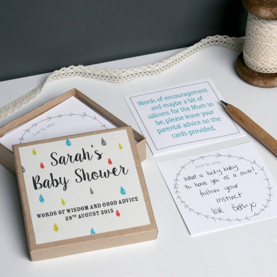 Personalised Baby Shower Message Box | Baby Shower Messages