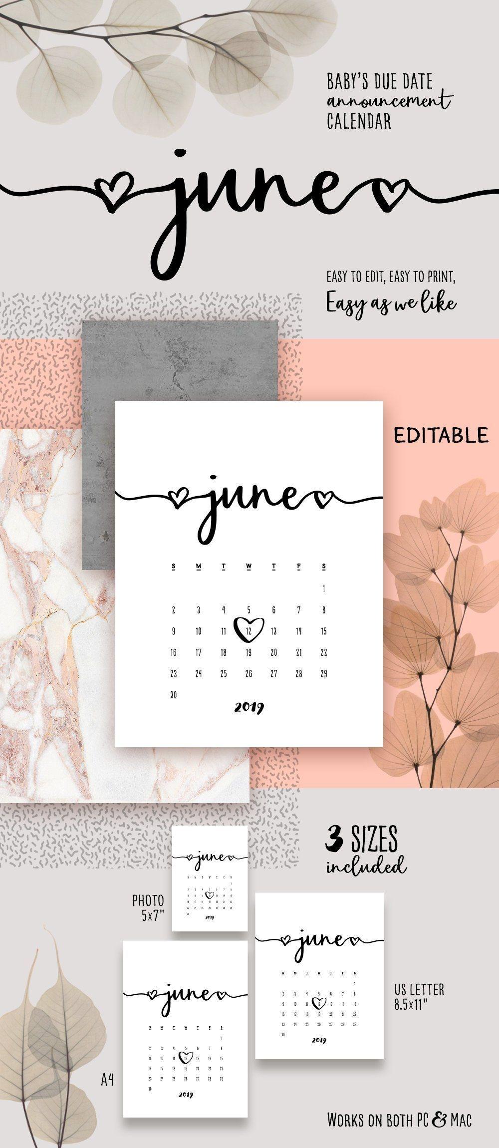 Pin On Pregnancy Announcement Calendar