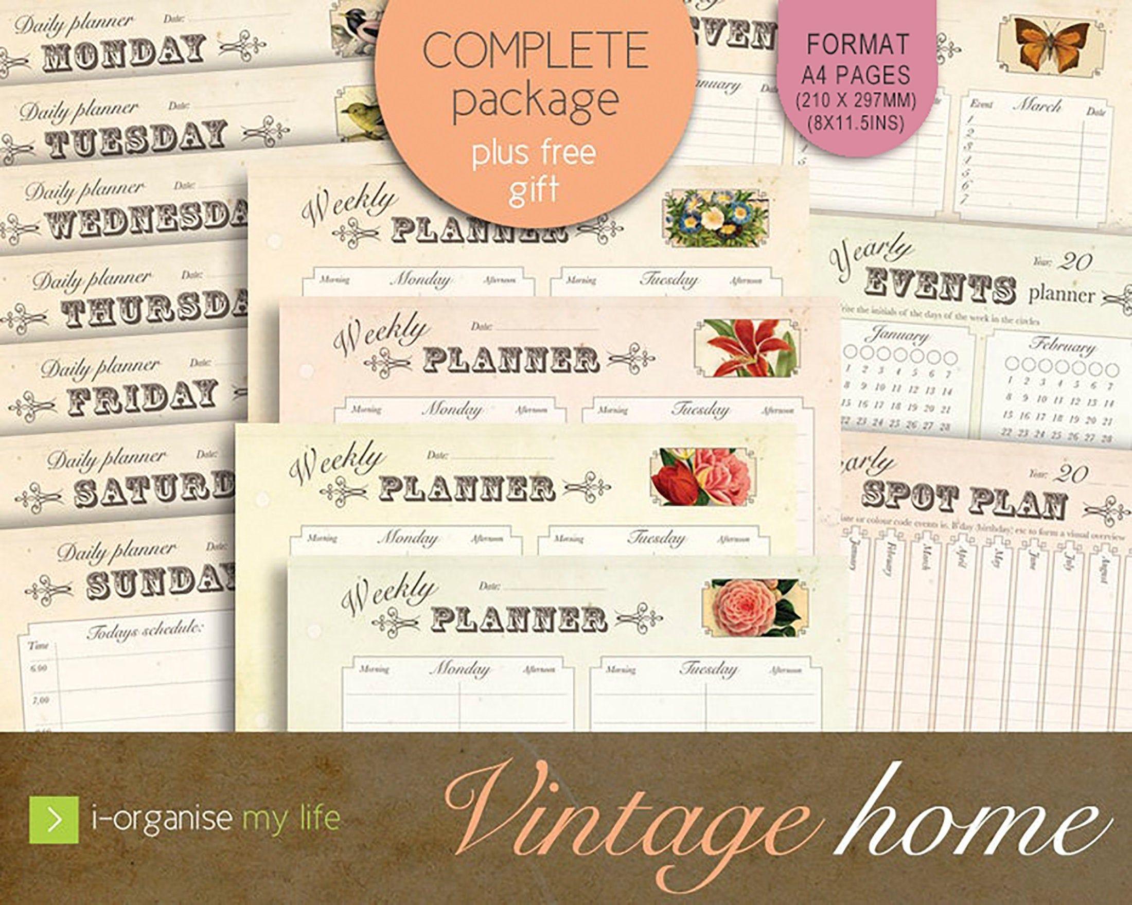 Planner Pack Digital Files Downloadable Printable Daily Planner Week  Planner Year Planner Schedule Planner Event Planner